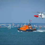 Bembridge Lifeboat and Coastguard Helicopter